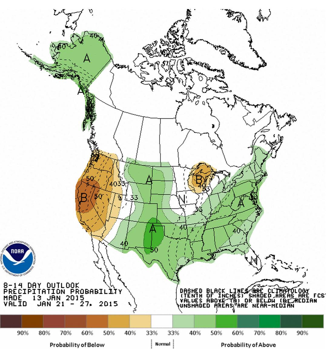 CPC 8 - 14 day outlook – precipitation