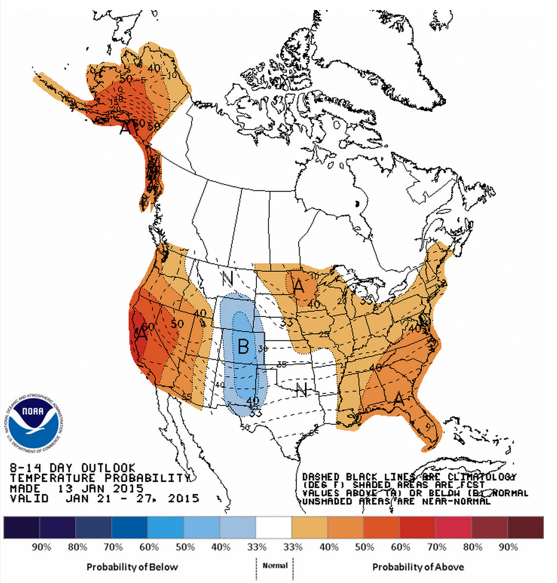 CPC 8 - 14 day outlook – temperatures