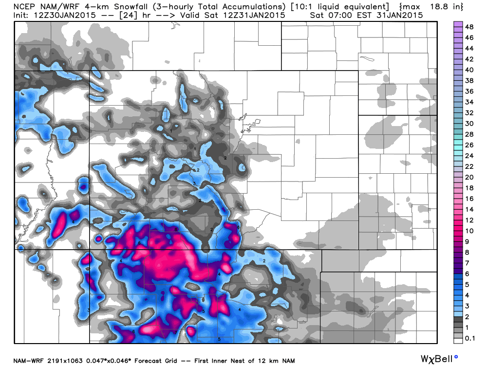 4km NAM by WeatherBell