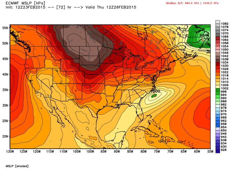 12z ECMWF WMO Essential valid 5am Thursday | WeatherBell Models