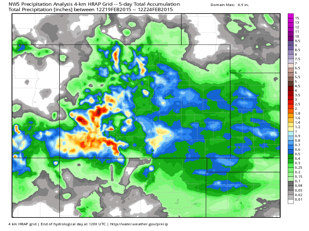NWS precipitation analysis | WeatherBell Models