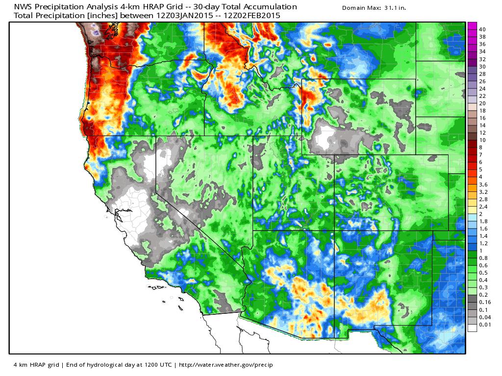 NOAA precipitation analysis | WeatherBell Analytics
