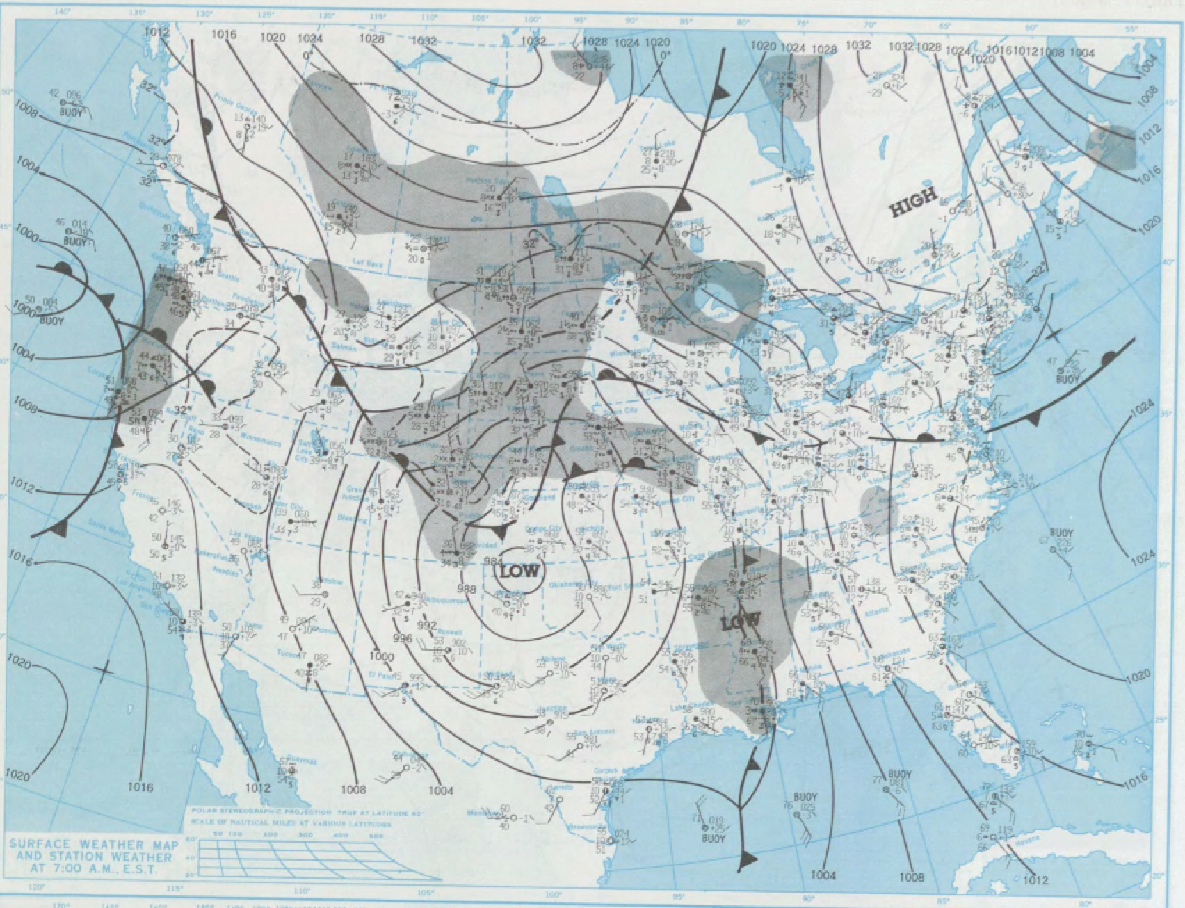 Surface map for March 5, 1983 | NOAA