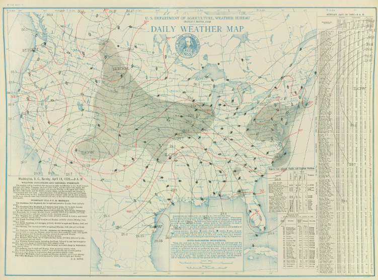 Surface map for April 18, 1920 | NOAA