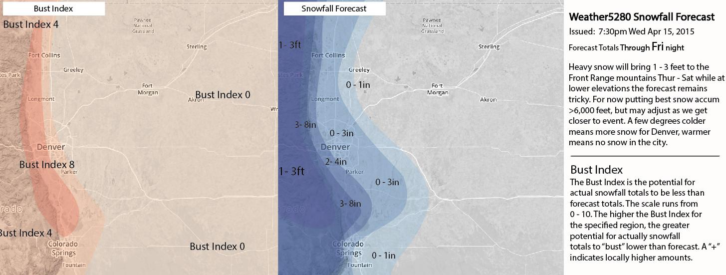 Weather5280 Snowfall Forecast