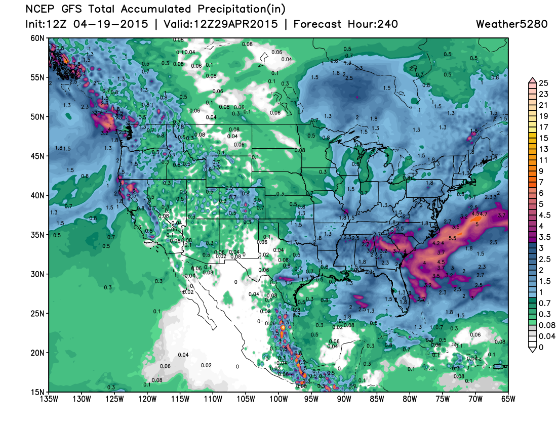 GFS total precip   Weather5280 Models