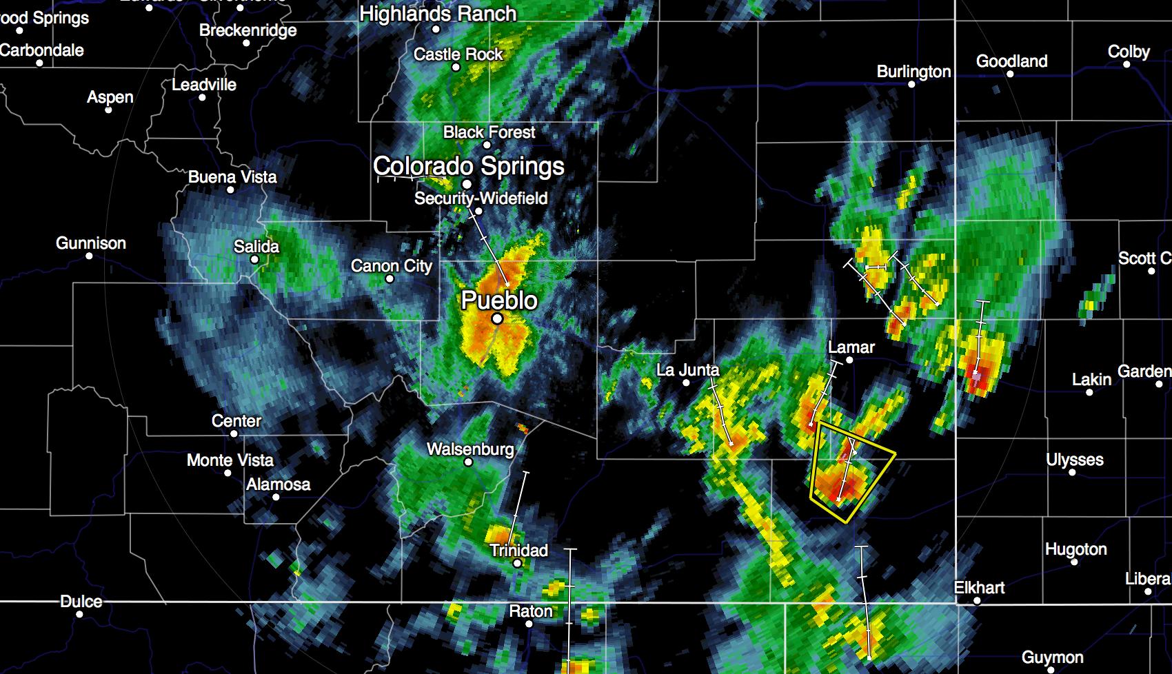 Southern CO radar 6:10pm