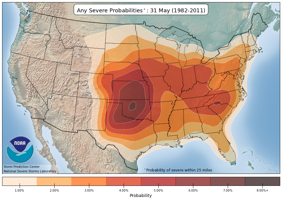 Any severe weather probabilities | May 31
