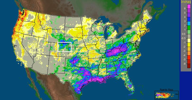 NWS precipitation analysis April, 2015