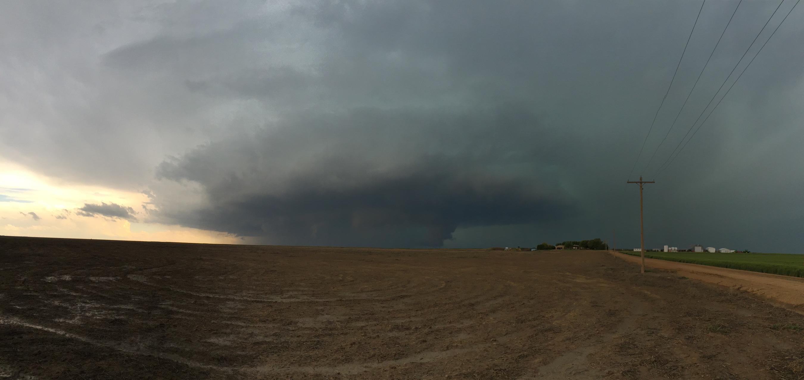 Tornado warned storm near Lamar, CO on Sunday   Sam Ng