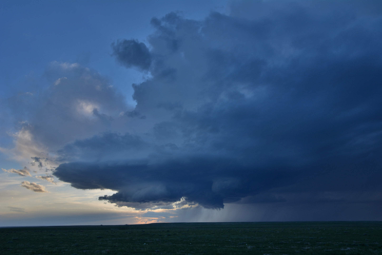 Supercell thunderstorm Friday evening northeast of Pueblo, CO   Brendan Heberton