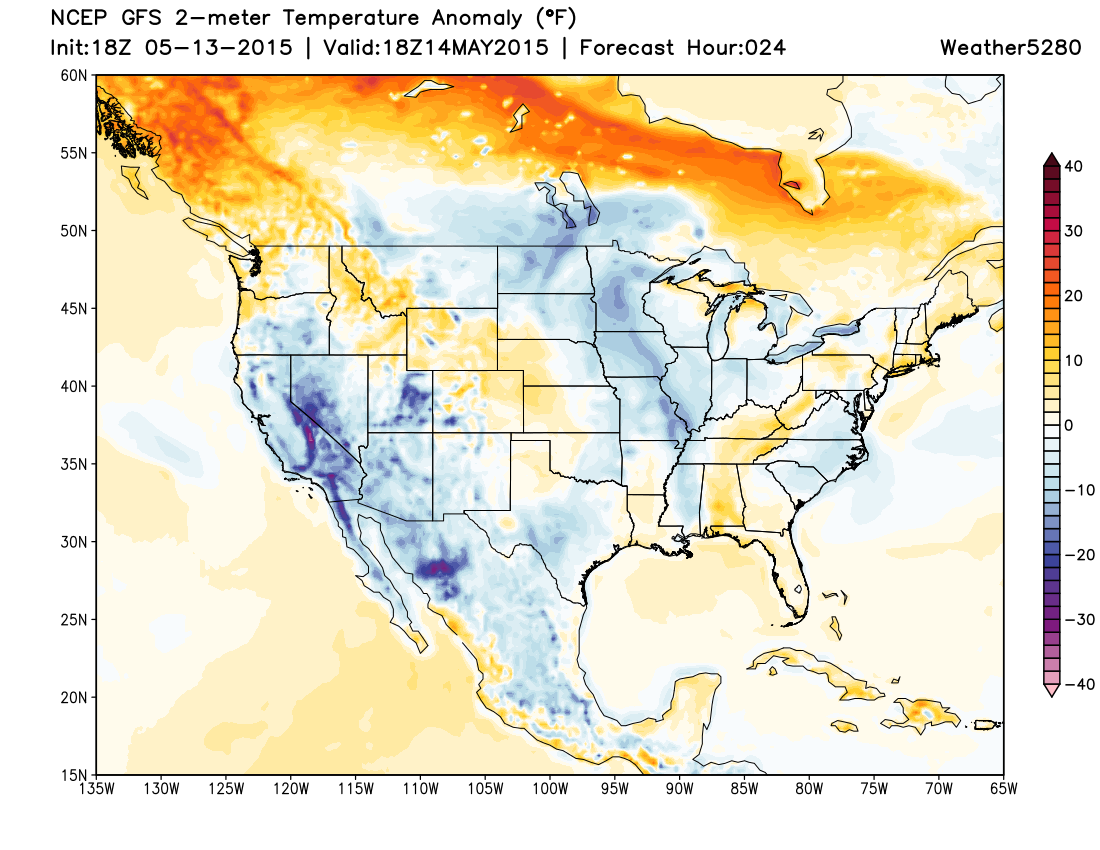Temperatures Thursday forecast to be at to slightly above normal across northeast Colorado | Weather5820 Models