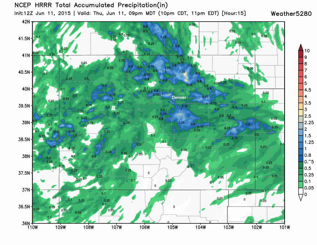 HRRR total precip forecast | Weather5280 Models
