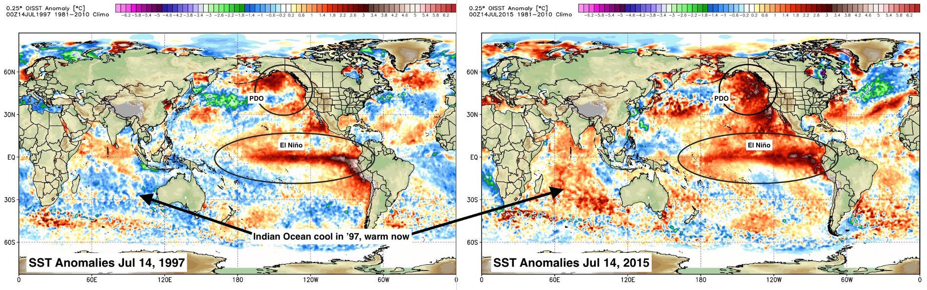 1997 - 2015 SST comparison | WeatherBell Analytics