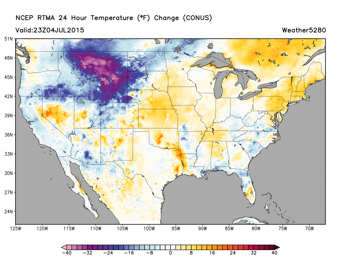 24 hour temperature change   Weather5280 Models