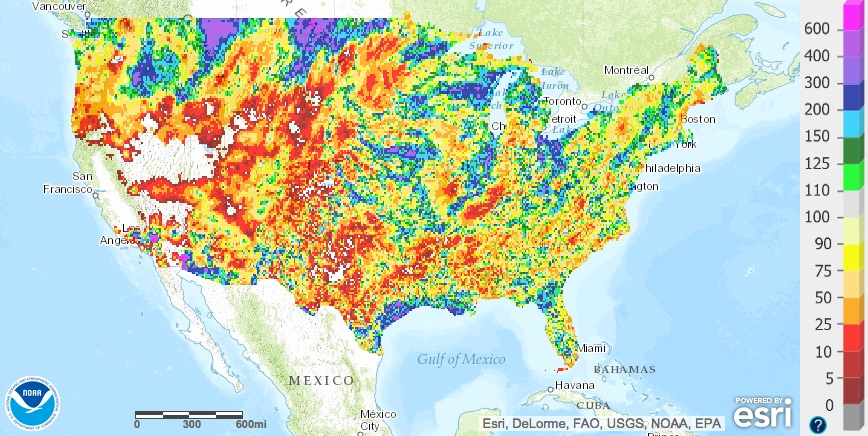 Percent of normal precipitation month to date September 14, 2015 | NWS