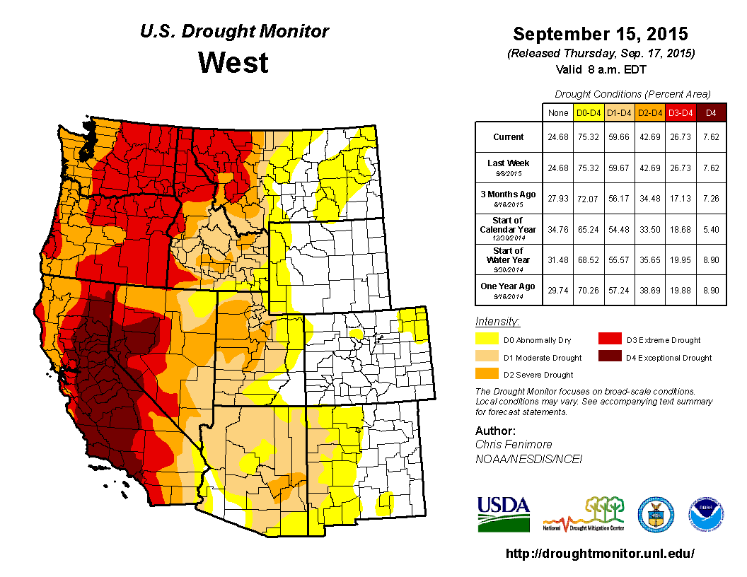 US west drought monitor | United States Drought Monitor