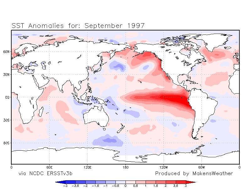 SST Temperatures in September 1997