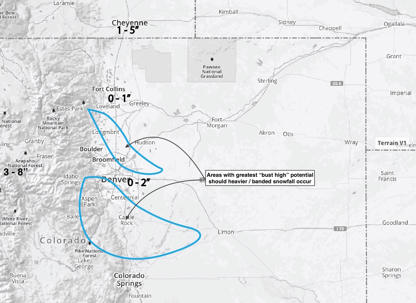 Snowfall forecast map | Weather5280