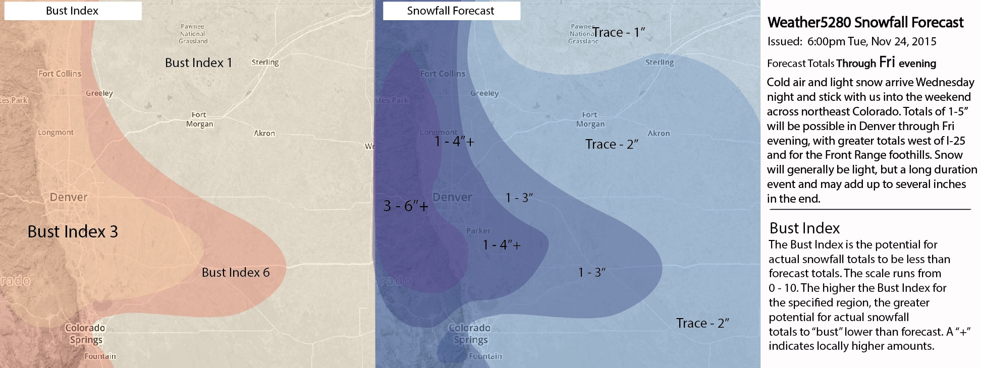 Weather5280 Thanksgiving snowfall forecast