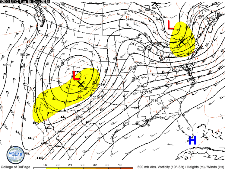 12/15 12Z observed 500 mb heights and winds