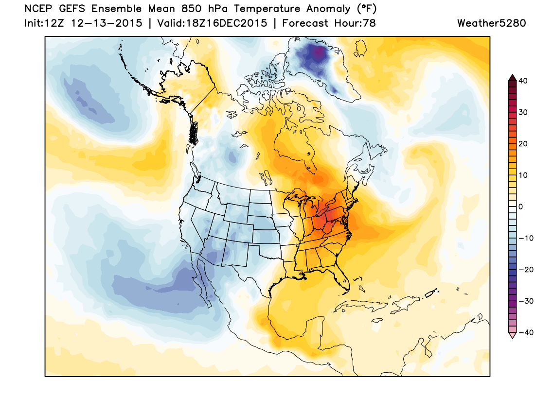 Temperatures below normal for the western and central U.S. this week | Weather5280 Models