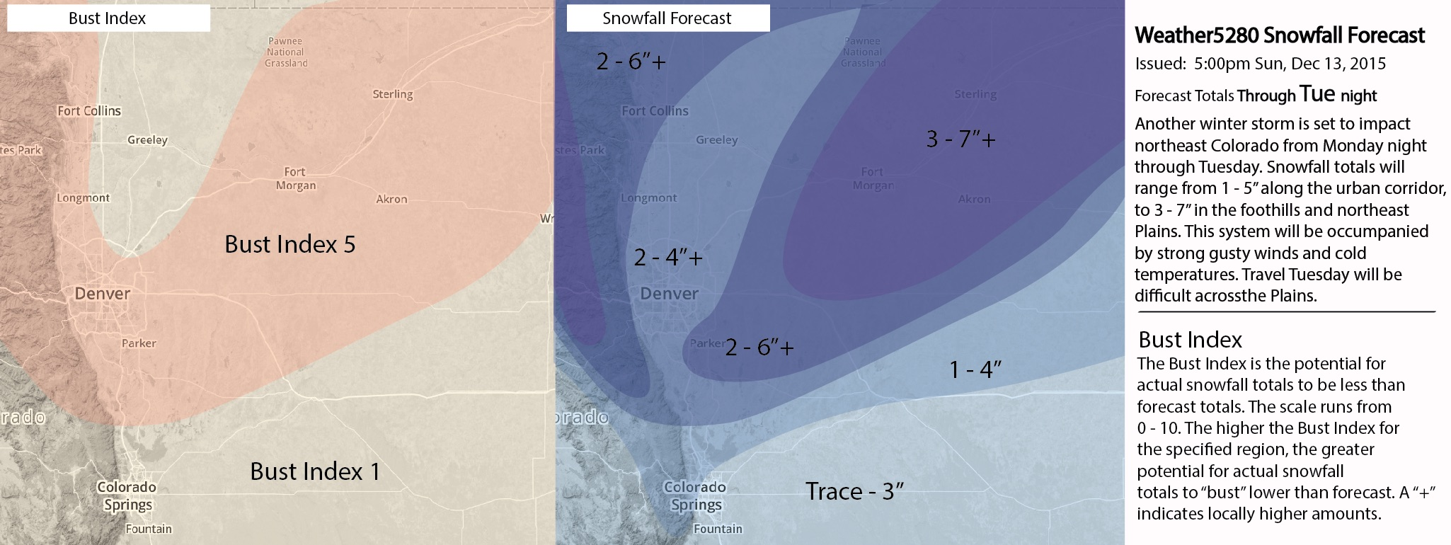 Weather5280 snowfall forecast map
