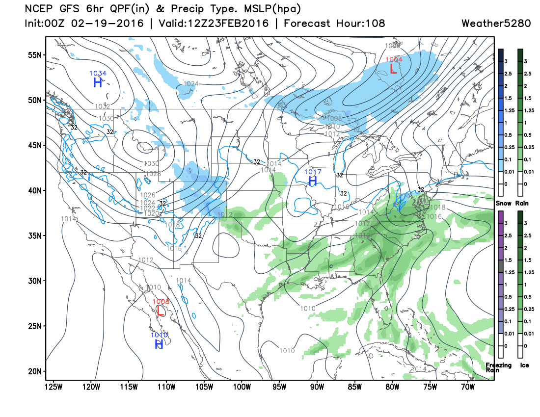 GFS forecast early Tuesday morning | Weather5280 Models