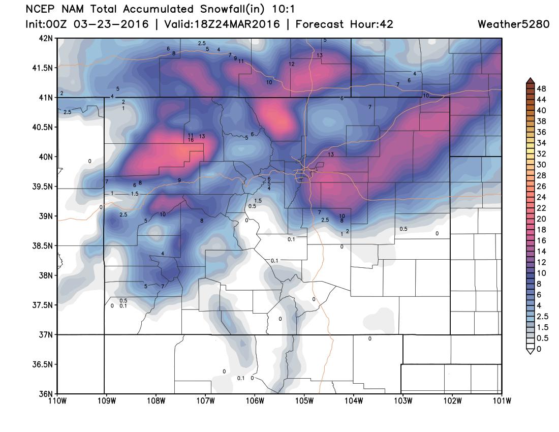 NAM forecast | Weather5280 Models