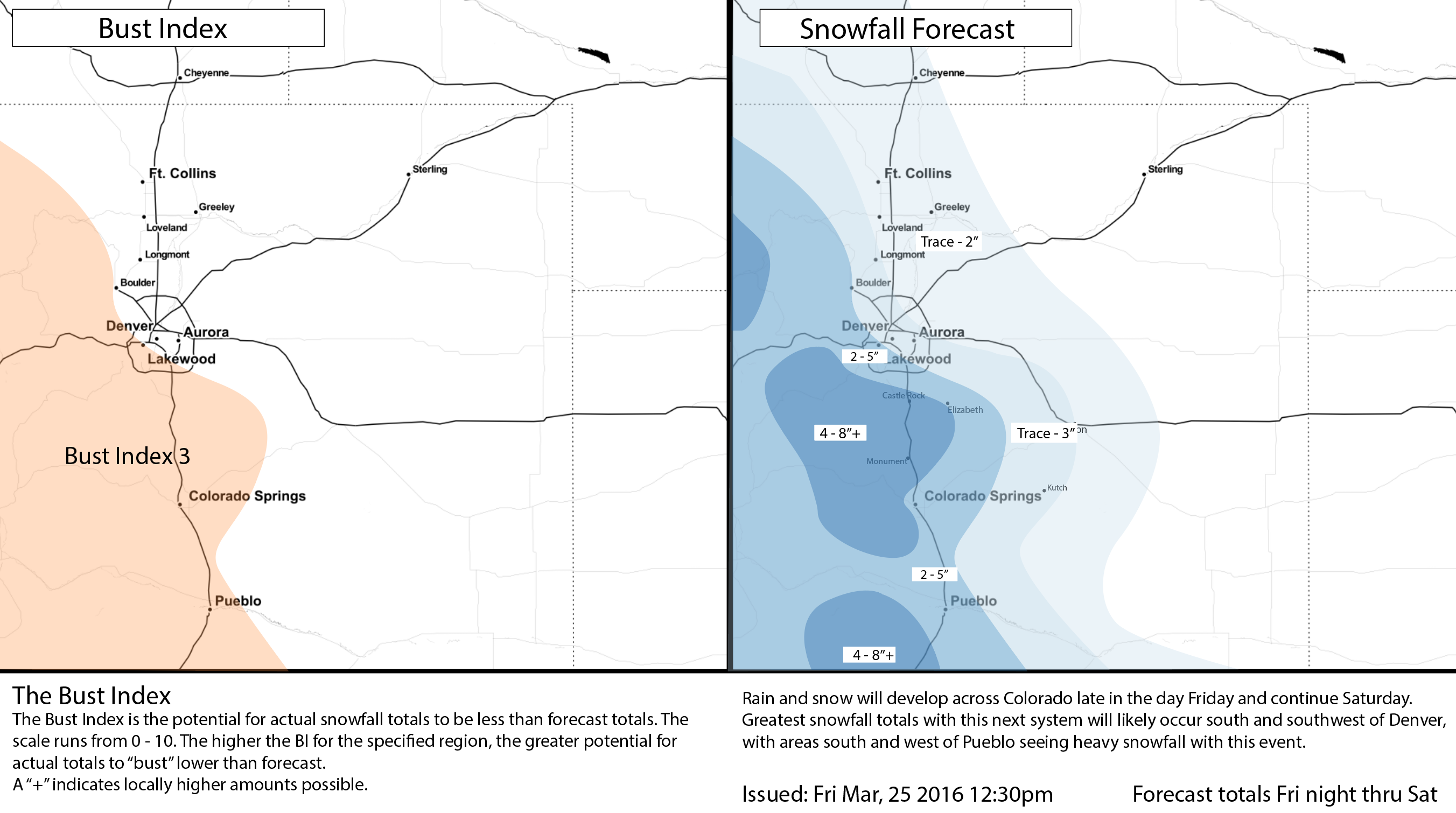 Weather5280 snowfall forecast issued Friday