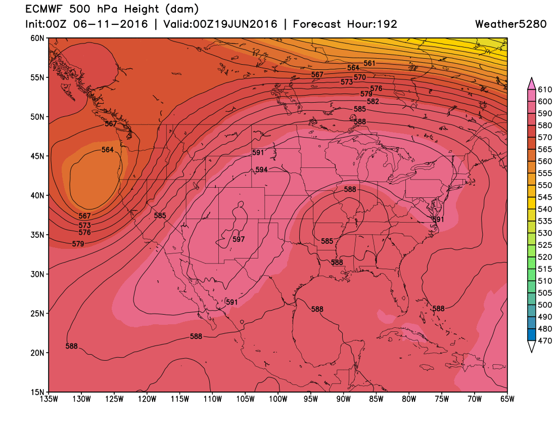 ECWMF 500mb forecast next weekend | Weather5280 Models