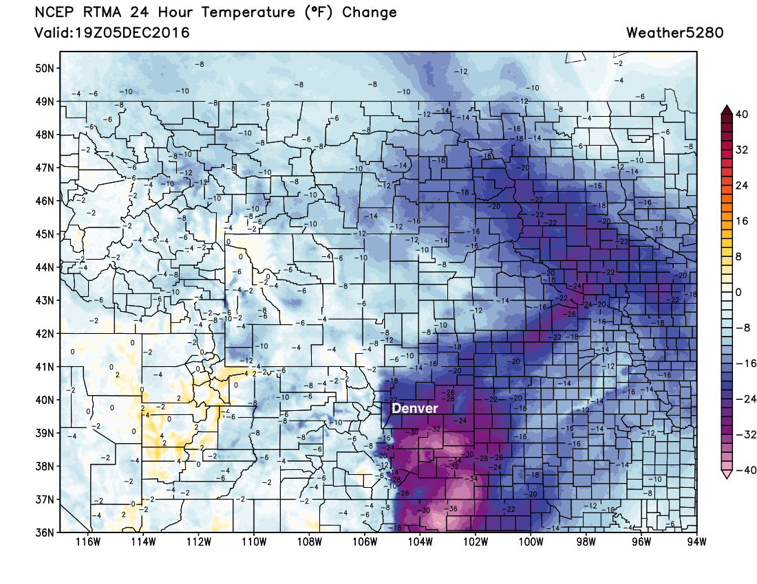 Temperatures running much colder across the region than the same time on Monday | Weather5820 Models