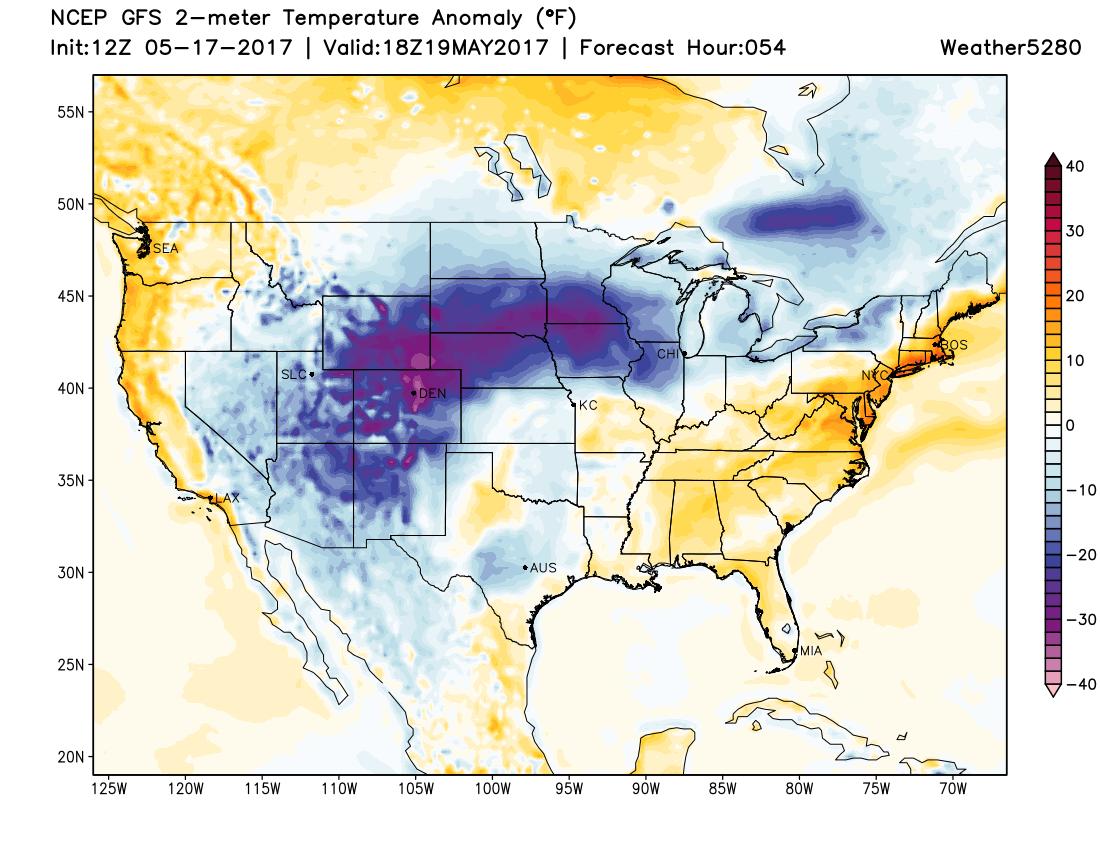 Temperatures will be WELL below normal across Colorado on Friday