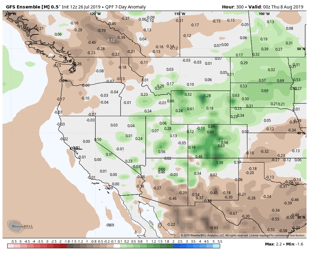 GEFS Precipitation 7-Day Anomaly