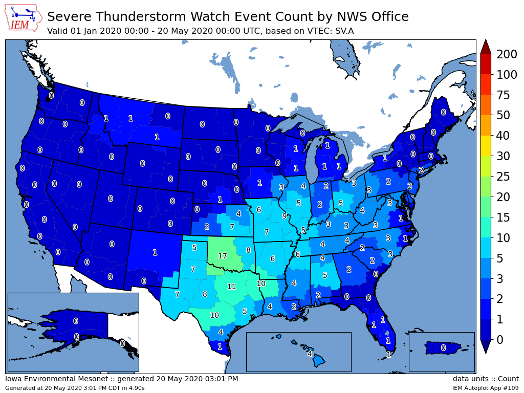 image: First Severe Thunderstorm Watch of the year for eastern Colorado