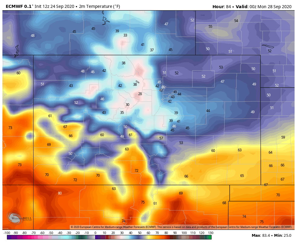 image: Potential cold front hits Sunday