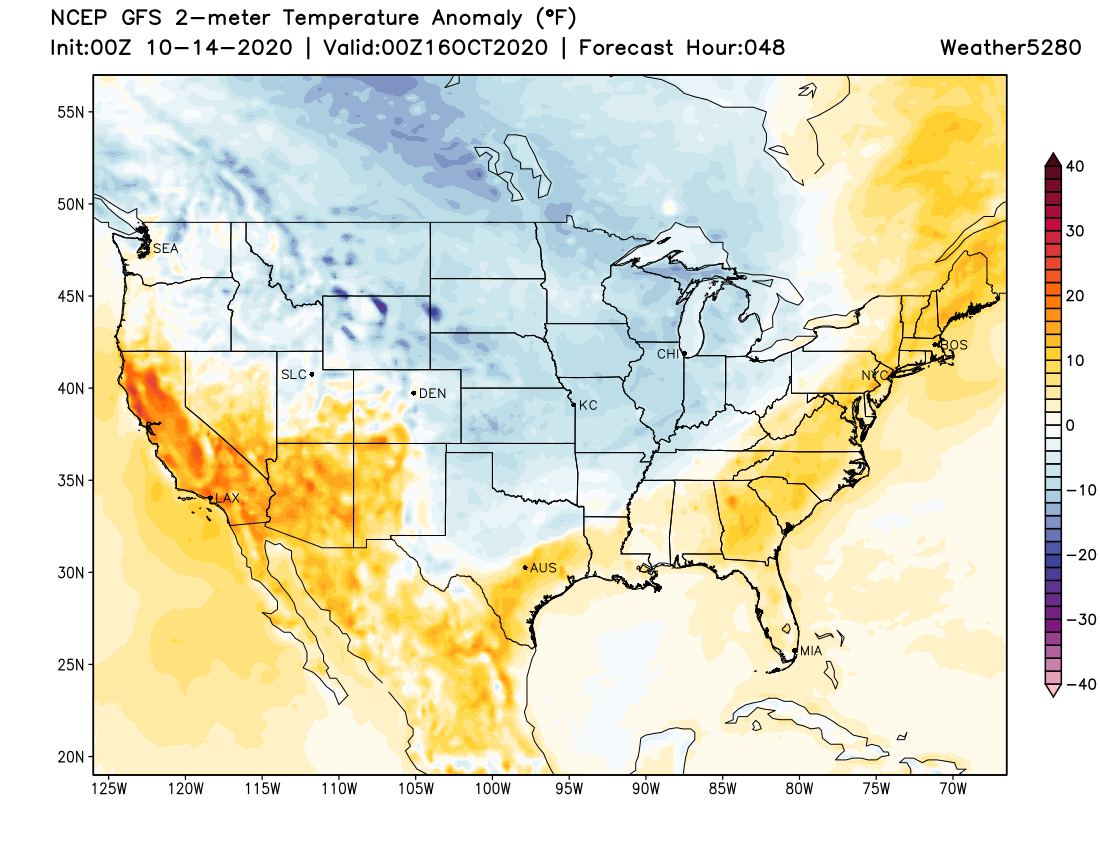 image: Wednesday AM update: Cooler again on Thursday, but still dry