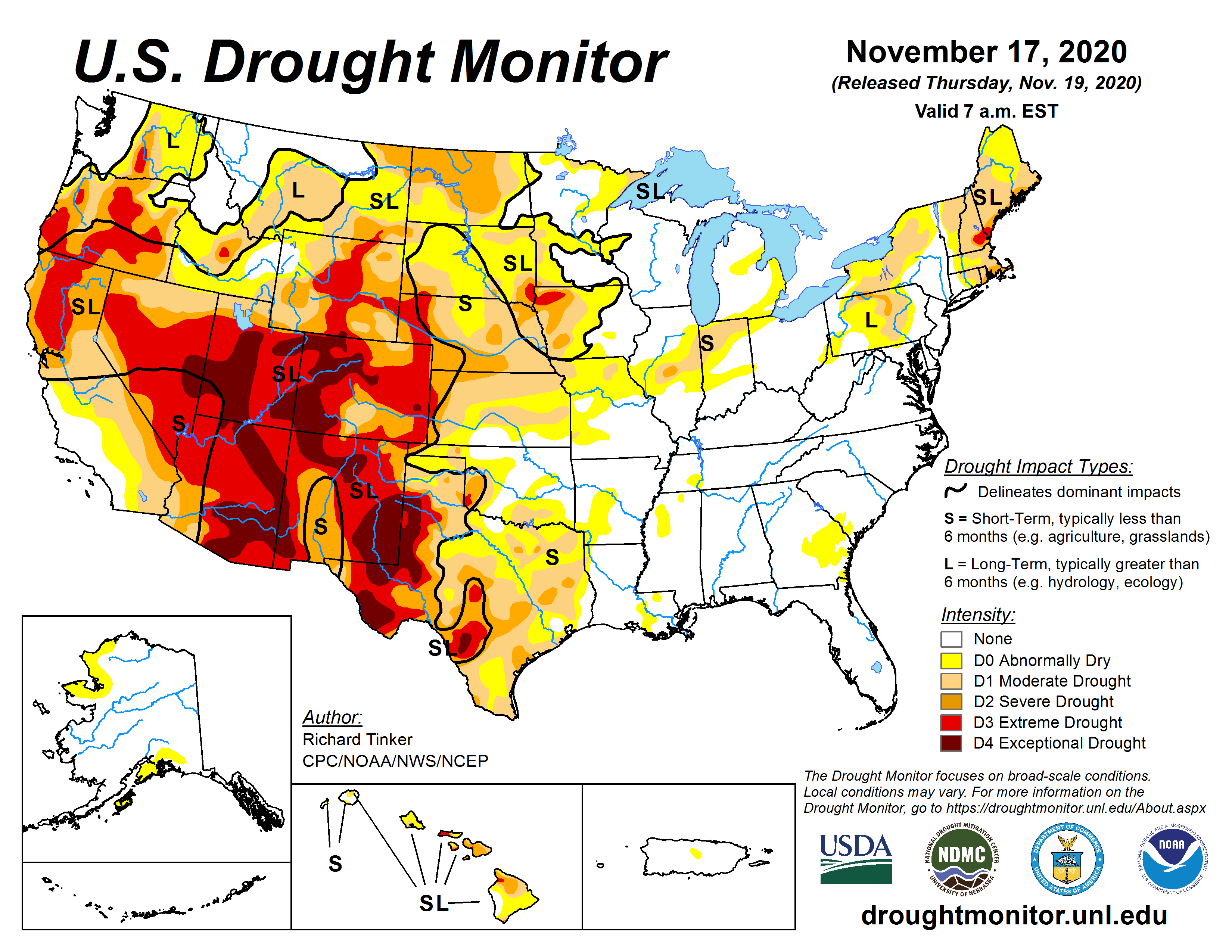 image: Drought update & the outlook: Thursday, November 19th, 2020