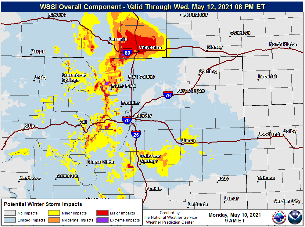 image: What to watch for with the spring rain and snow event across the Denver area and state